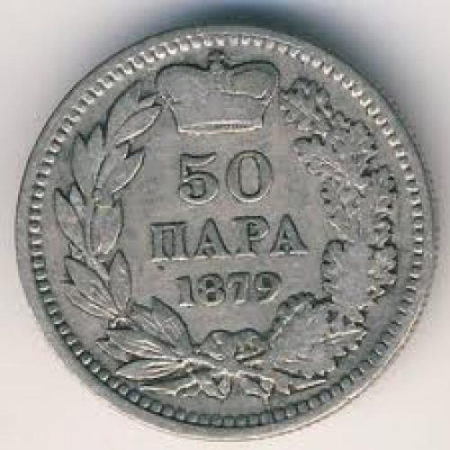Coins; Serbia, 50 para, 1879