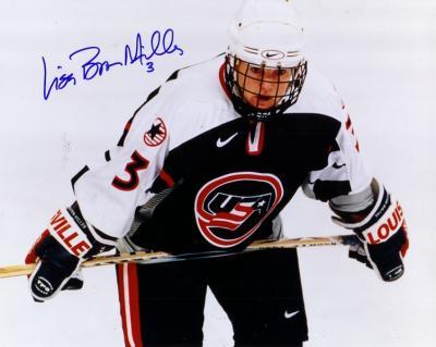 Lisa Brown-Miller autographed 1998 USA Hockey 8x10 photo