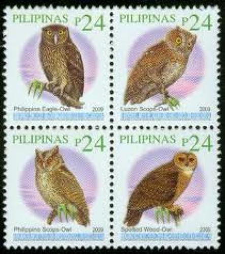 24 Pesos; Year: 2009; Philippine owl stamps