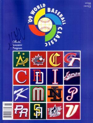 Adrian Gonzalez autographed 2009 World Baseball Classic program