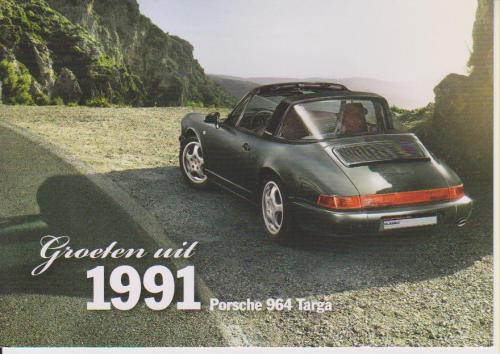 Porsche 911 Targa 1991 postcard