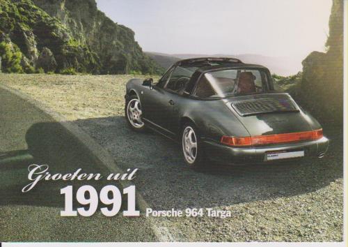 Porsche 911 Targa 1991 postcard