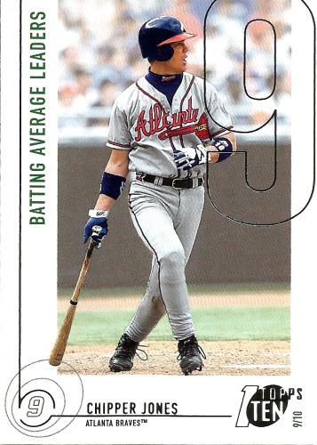2002 Topps Ten #61 ~ Chipper Jones AVG