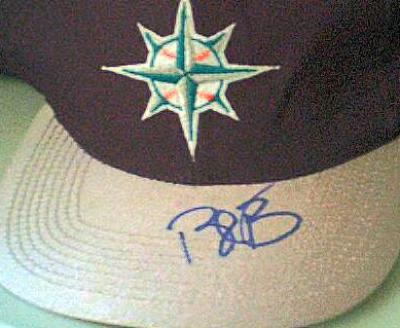 Bret Boone autographed Seattle Mariners alternate cap