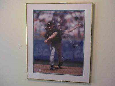 Randy Johnson autographed Arizona Diamondbacks 16x20 poster size photo framed UDA ltd edit 200