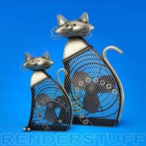 Premium 3D model - Cat decorative figurine fans