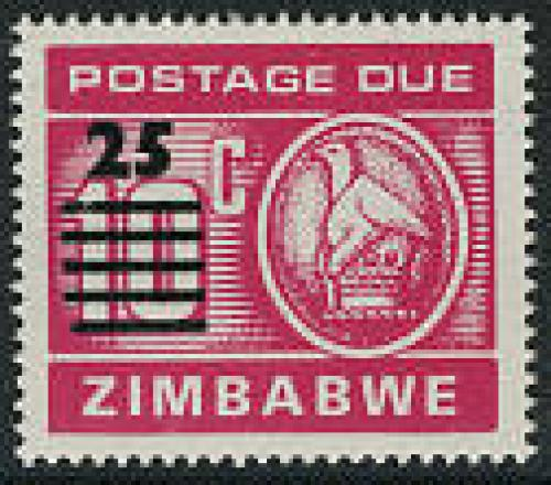 Postage due overprint 1v; Year: 1990