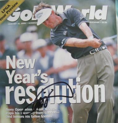 Paul Azinger autographed Golf World magazine cover