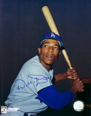 Willie Davis autographed 8x10 Los Angeles Dodgers photo