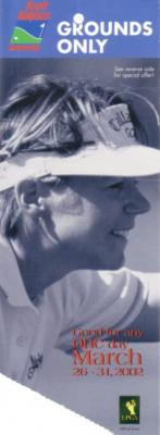 2002 LPGA Kraft Nabisco Championship ticket stub (Annika Sorenstam)