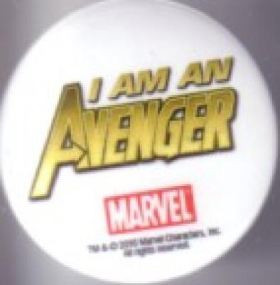 I Am An Avenger 2010 Comic-Con Marvel promo button or pin