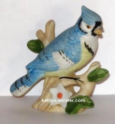 Lefton China 00749 Blue Jay Bird Figurine
