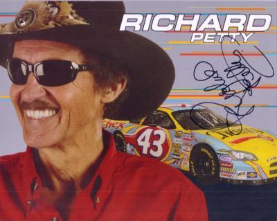 Richard Petty (NASCAR) autographed 8x10 photo card