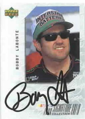 Bobby Labonte (NASCAR) 1999 Upper Deck certified autograph card