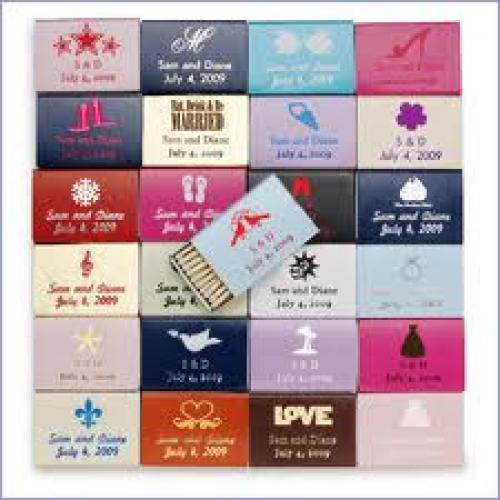 Matchboxes; Personalized Wedding  Favors