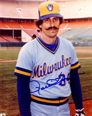 Rollie Fingers autographed 8x10 Milwaukee Brewers photo