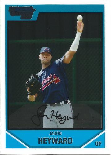 2007 Bowman Chrome Draft Draft Picks #BDPP54 ~ Jason Heyward