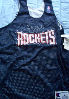 Clyde Drexler autographed Houston Rockets authentic practice jersey