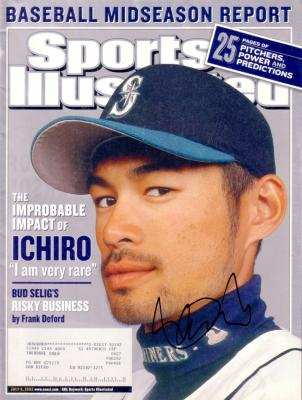 Ichiro Suzuki autographed Seattle Mariners 2002 Sports Illustrated