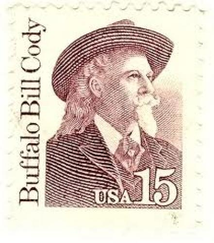 Stamps;  USA 15 cent stamp of Buffalo Bill Cody