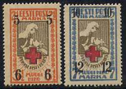 Red Cross 2v; Year: 1926