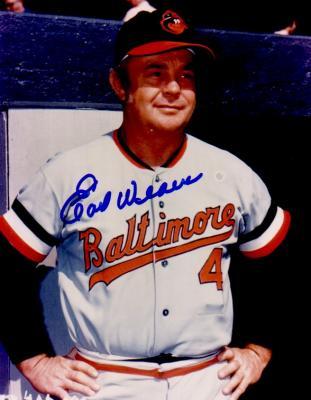 Earl Weaver autographed Baltimore Orioles 8x10 photo