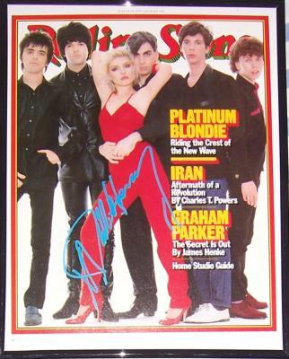 Deborah Harry autographed Blondie Rolling Stone cover framed
