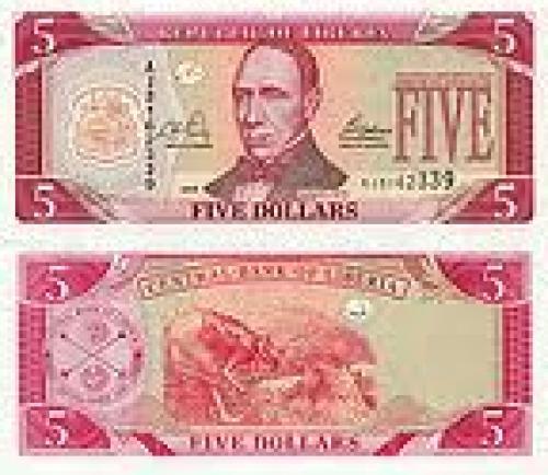 Banknote Liberia 5 Dollar 2003 ·