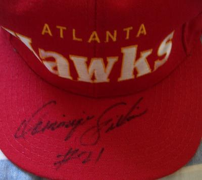 Dominique Wilkins autographed Atlanta Hawks cap or hat (full name signature)