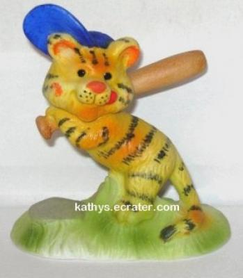 Vintage 1978 Suzy's Zoo Tiger Baseball Animal Figurine