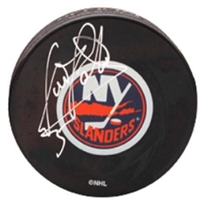 Denis Potvin autographed New York Islanders puck