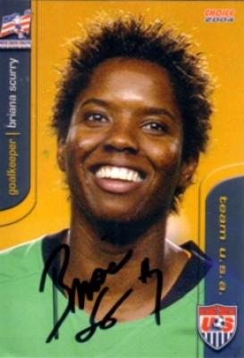 Briana Scurry autographed 2004 U.S. Soccer card