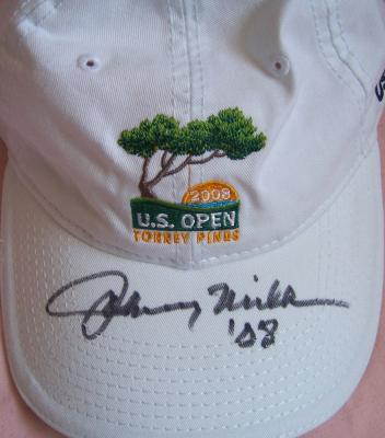 Johnny Miller autographed 2008 U.S. Open golf cap