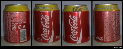 Coca Cola can of Brasil (2008)
