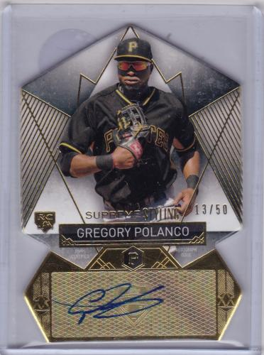 2014 TOPPS SUPREME DIE CUT ROOKIE AUTO SERIAL #/50 GREGORY POLANCO