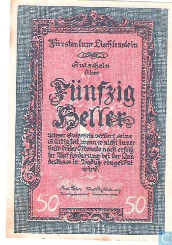 Liechtenstein 50 Heller