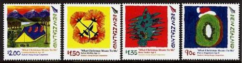 Christmas, children stamp design 4v