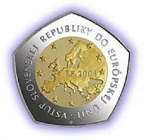 Coins; 10000‑Korun‑Entry‑of‑Slovakia
