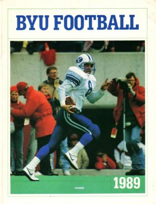 1989 BYU Football media guide (Heisman winner Ty Detmer)
