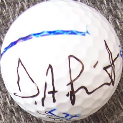 D.A. Points autographed tournament used Titleist golf ball