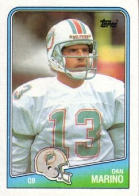 1988 Miami Dolphins Topps team card set (Dan Marino)