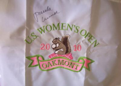 Paula Creamer autographed 2010 US Women's Open embroidered pin flag