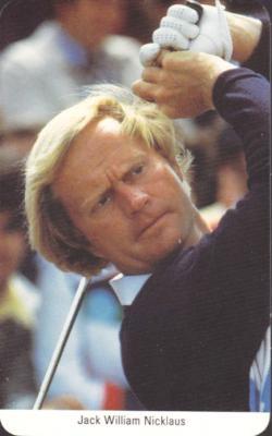 Jack Nicklaus 1987 Fax-Pax golf card