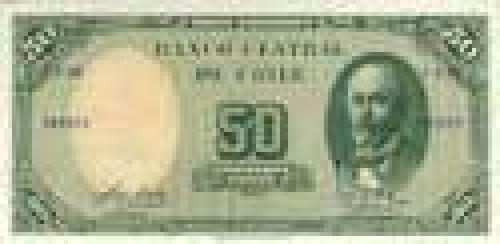 50 Pesos; Issue of 1960-61, escudos