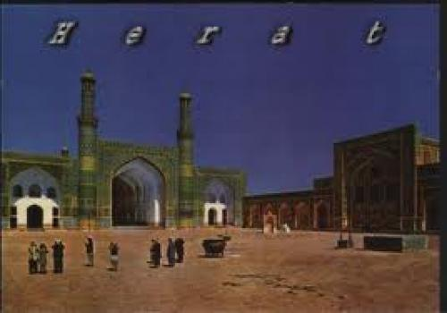 Postcard; Herat; postcard from a hard-to-find country Afghanistan