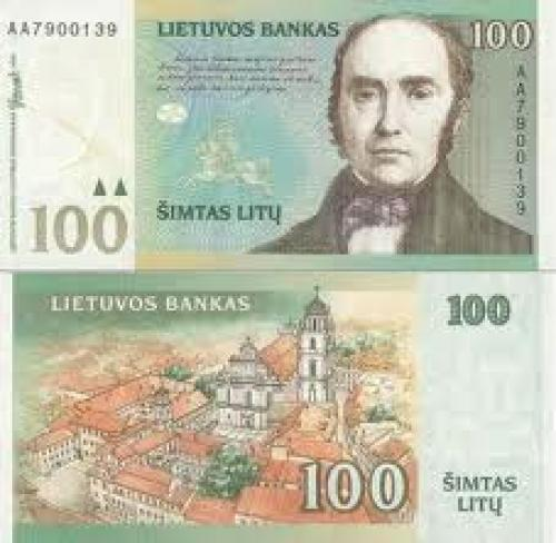 Banknotes; 100 Litu: Banknotes Lithuania
