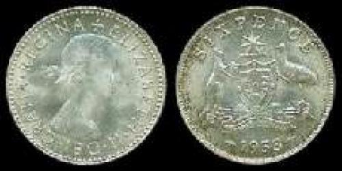 6 pence; Year: 1953-1954; (km 52)