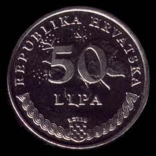 Coins; Croatia 50 lipa ; Year: 2007