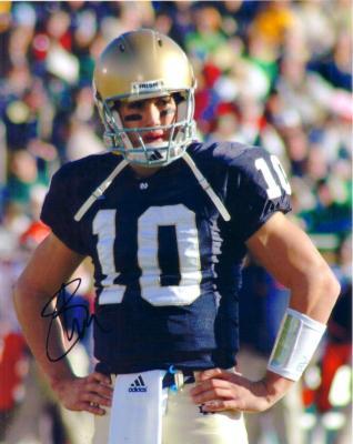Brady Quinn autographed Notre Dame 8x10 photo