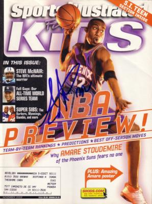 Amare Stoudemire autographed Phoenix Suns 2003 Sports Illustrated for Kids magazine
